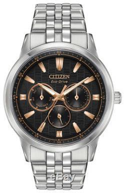 Citizen Eco-drive Corso Gold Rose Accents Hommes Noir Cadran 44mm Montre Bu2070-55e