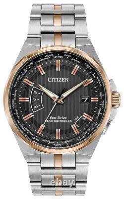 Citizen Eco-drive Homme Perpétuel A-t Temps Du Monde Montre Cadran Noir Cb0166-54h