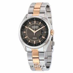 Citizen Eco-drive Mens Aw1146-55h Robe Inoxydable St. Ton Or Brown Cadran