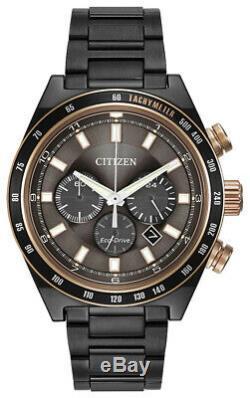 Citizen Eco-drive Or Rose Chronographe Homme Accents De 42mm Montre Ca4207-53h