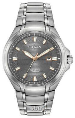 Citizen Eco-drive Paradigm Homme Cadran Gris Titanium Band 43mm Montre Bm7431-51h