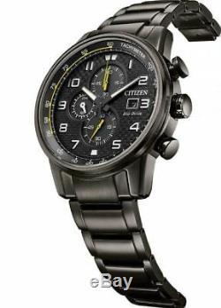 Citizen Eco-drive Primo Chronographe Gris Bracelet Homme 45mm Montre Ca0687-58e