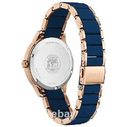 Citizen Ladies Eco-drive Ar Rose Gold Case Blue Band 36,5mm Montre Fe7073-71a