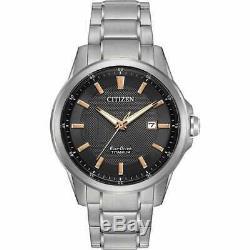 Citizen Men Bracelet Aw1490-50e Chandler Titanium Silver-tone De 42mm Montre