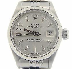 Date Rolex Lady En Acier Inoxydable Et Or Blanc 18 Carats Montre Jubilé D'argent Cadran 6917