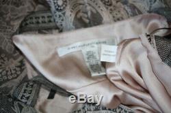 Diane Von Furstenberg Robe En Mousseline De Soie Oleada Avec Dentelle Florale Rose Noir Gris 6