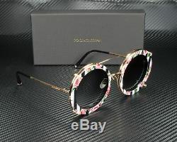 Dolce & Gabbana Dg2198 12988g Rose Gd Blk Rose Gris Grad 63 MM Lunettes De Soleil