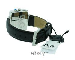 Dolce & Gabbana Time Dw0514 Homme Analog Retro Tv Style Black Leather Watch