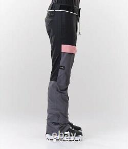 Dope Neige Grâce Snowboard Pantalon De Ski Pantalon De Ski Rose Gris Taille Xs Noir 8 Bnwt
