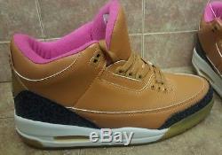 Exclusivités - Air Jordan Retro 3 En Tan / Blanc / Rose / Noir / Gris En Taille Homme 11
