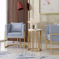 Fauteuil Doré Moderne Et Luxueux Avec Sièges En Velours Gris / Rose / Bleu / Noir