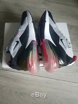 Femme Nike Air Max 270 Gris, Noir, Rose Taille 4.5 38 Bulle D'air Arc-en-ciel