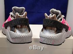 Femmes Nike Air Huarache Run ID Gris Rose Noir Marron Sz 9 (777331-999)