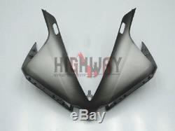 Fit 2013-14 Yamaha Yzf R1 Matte Grey Noir Kit Carrosserie Carénage Plastique Abs Neuf