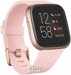 Fitbit Versa 2 Santé Et Fitness Smartwatch New Versa2 Pinkpurplegrayblack