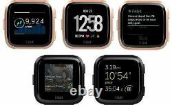 Fitbit Versa Smart Watch Hr Black Gray Silver Charbon De Bois Ruby Pink Peach Lavender