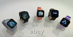 Fitbit Versa Smart Watch Hr Black Gray Silver Charcoal Ruby Pink Lavender Gold