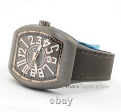 Franck Muller Vanguard Titanium Et 18k Rose Gold V45 Sc Dt Tt Br. 5n Montre-bracelet