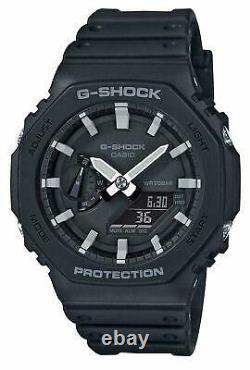G-shock Ga-2100-1aer Black Casioak Carbon Core Watch Ga-2100-1a