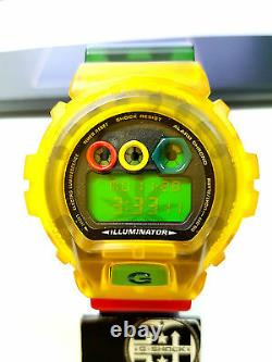 G-shock Vintage Dw6900 Love Rastafari Jelly Reggae Hiphop Bobmarley Limited