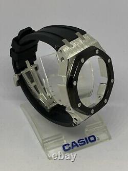 Gen3 Ap Casioak Blacklunette / Bracelet En Caoutchouc Noir Mod Kit Pour Casio Gshock Ga-2100