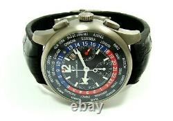 Girard-perregaux Ww. Tc Chronographe Temps Mondial 43mm Titanium Ref 49805, Serviced