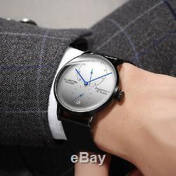 Guanqin Classique Dial Power Reserve Sapphire Affichage Automatique En Cuir Mens Watch