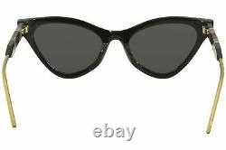 Gucci Gg0597s 001 Lunettes De Soleil Femmes Black-pink/grey Lentilles Fashion Cat Eye 55mm