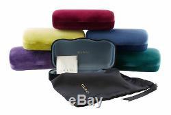 Gucci Lunettes De Soleil Pour Femmes Gg0308s 001 Noir Avec Verres Swarovski Pave Crystals Grey