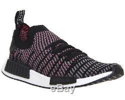 Hommes Adidas Nmd R1 Prime Knit Clair Noir Gris Solaire Rose Chaussures De Baskets