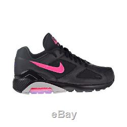 Hommes Nike Air Max 180 Chaussures Noir / Rose Blast / Wolf Gris Aq9974-001
