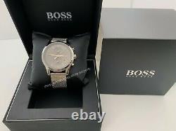 Hugo Boss Hb 1513440 Jet Grey Chronographe Argent En Acier Inoxydable Hommes Montre