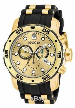 Invicta 17885 Hommes Pro Diver Or Tone Dial Montre Chronographe