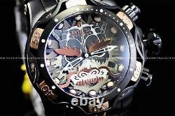 Invicta 52mm Réserve Venin Samurai Dragon Suisse Chrono Black Rose Gold Ss Watch