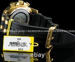 Invicta Men Pro Diver Scuba Chronographe Lunette Or 18kt Noir 50mm Montre Ss