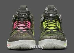 Jordan Why Not Zer0.2 Light Smoke Grey/black/cyber/hyper Pink Ao6219-003 Taille 16