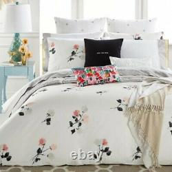 Kate Spade Willow Court Blush, Rose, Gris, Noir Floral Full/queen Comforter Set