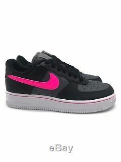 Les Nouvelles Femmes Nike Air Force 1 Low Noir Rose Souffle Gris Foncé Cj9699 001 Taille 7.5