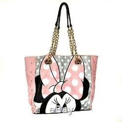 Loungefly Disney Minnie Mouse Sac Fourre-tout Sac Rose Blanc Gris Noir Or Rare
