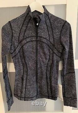 Lululemon Définir Veste Nulux Gray Black Léger Warm Slim Fit Nwt $128
