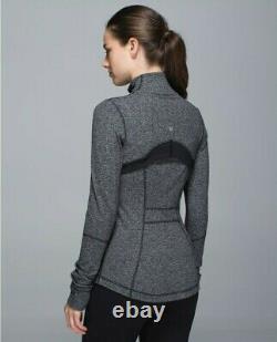 Lululemon Uk 8 Xs/s Us 4 Define Jacket £98 Herringbone Black Grey