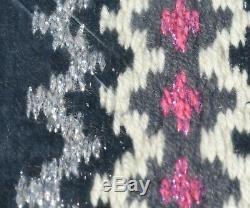 Mayatex Luna Western Voir Chabraque Noir-gris-argent-rose-blanc 40x34