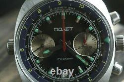 Meilleur Poljot 3133 Chronographe Légendaire Urss Montre Militaire Russe Serviced