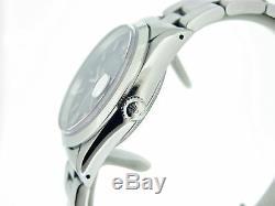 Mens Rolex Date De Montre En Acier Inoxydable Oyster Band Domed Bezel Cadran Noir 15200