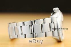 Mens Rolex Datejust Argent Diamond White Gold Bezel & Montre En Acier Inoxydable