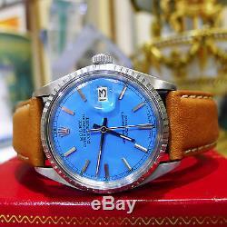 Mens Rolex Oyster Perpetual Datejust En Acier Inoxydable Blue Face Montre