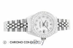 Mesdames Rolex Datejust En Or Blanc 18 Carats Et Acier Inoxydable Blanc Diamant Cadran