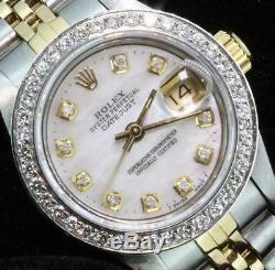 Mesdames Rolex Datejust Oyster Dial Diamond Bezel Montre