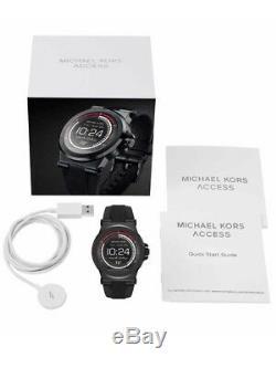 Michael Kors Unisexe Accès Dylan Bande Noire En Silicone Montre Smart Watch Mkt5011