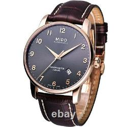 Mido Baroncelli Jubilee Automatic Rose-tone Leather Strap Men's Watch M86903138